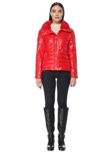 NetWork Kadın 1075737 Slim Fit Puff Mont Kırmızı